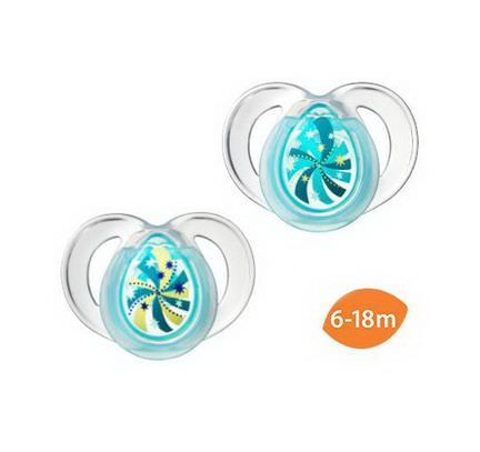 Tommee Tippee, Close to Nature, Night Time Pacifiers, Glow in The Dark, 2 Pacifiers