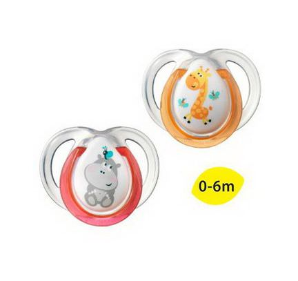 Tommee Tippee, Closer to Nature, Fun Style Pacifiers, Orthodontic, 2 Pacifiers