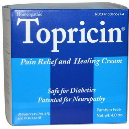 Topricin, Pain Relief and Healing Cream, 4.0 oz