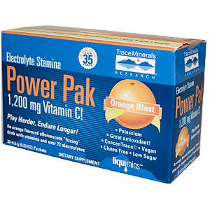 Trace Minerals Research, Electrolyte Stamina, Power Pak, Orange Blast, 0.23 oz 6.5g, 32 Packets