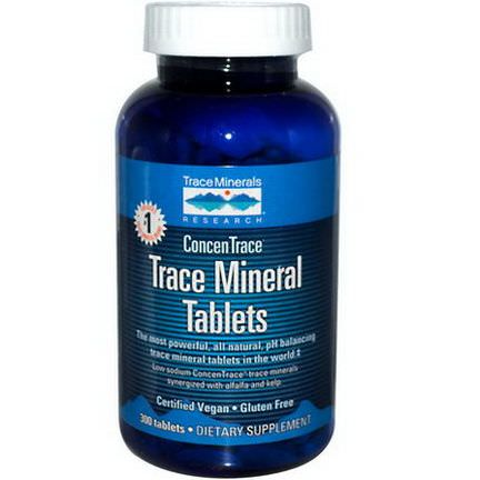 Trace Minerals Research, Trace Mineral Tablets, 300 Tablets