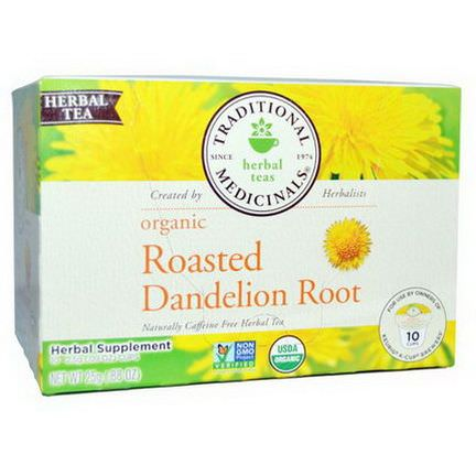 Traditional Medicinals, Organic Roasted Dandelion Root, 10 Cups 2.5g Each