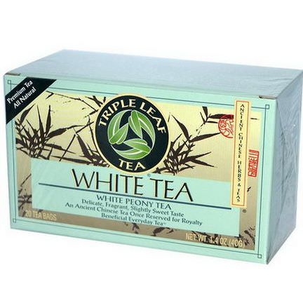 Triple Leaf Tea, White Tea, 20 Tea Bags 40g