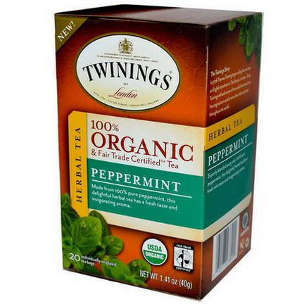 Twinings, 100% Organic Herbal Tea, Peppermint, 20 Tea Bags 40g
