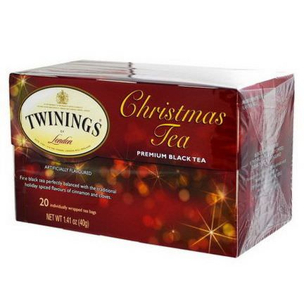 Twinings, Christmas Tea, Premium Black Tea, 20 Tea Bags 40g