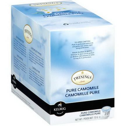 Twinings, Keurig, Pure Camomile, Naturally Caffeine Free, 24 K-Cups 3.0g Each