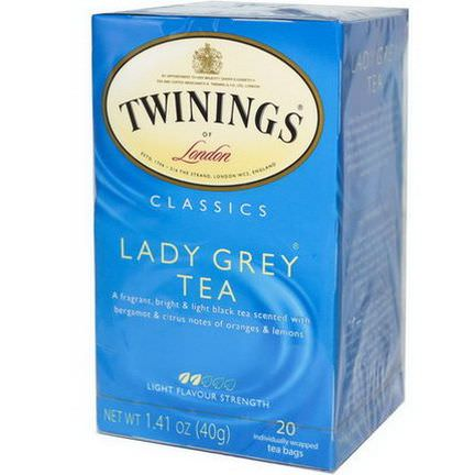 Twinings, Lady Grey Tea, 20 Tea Bags 40g