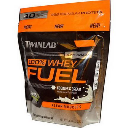 Twinlab, 100% Whey Fuel, Cookies&Cream 390g