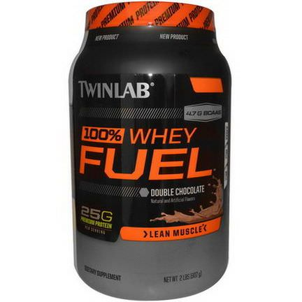 Twinlab, 100% Whey Fuel, Double Chocolate 907g