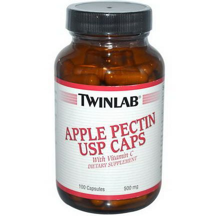 Twinlab, Apple Pectin USP Caps, 500mg, 100 Capsules