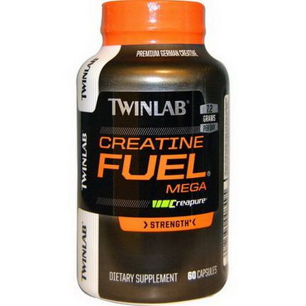 Twinlab, Creatine Fuel Mega, Strength, 60 Capsules