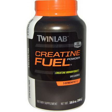 Twinlab, Creatine Fuel Powder, Unflavored, 5g 300g