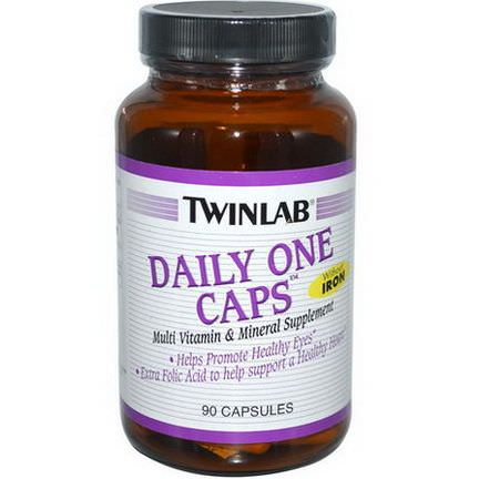 Twinlab, Daily One Caps, Without Iron, 90 Capsules
