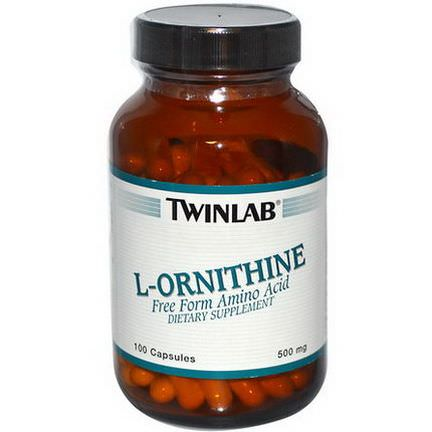 Twinlab, L-Ornithine, 500mg, 100 Capsules