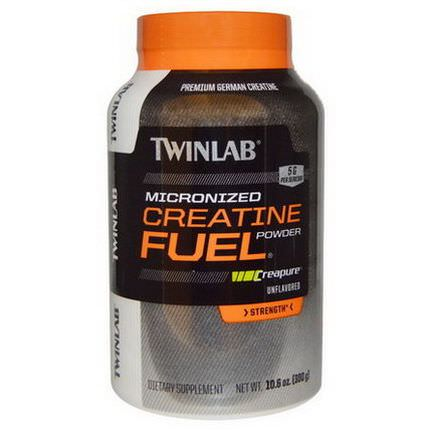 Twinlab, Micronized Creatine Fuel, Strength, Unflavored, 5g 300g