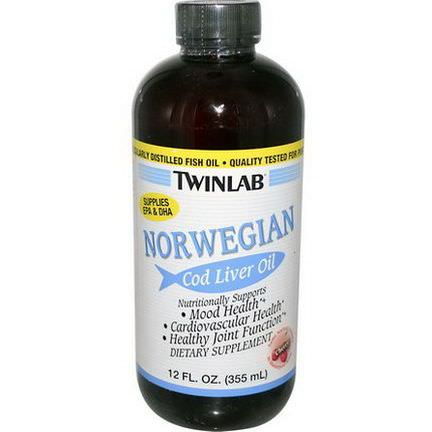 Twinlab, Norwegian Cod Liver Oil, Cherry 355ml