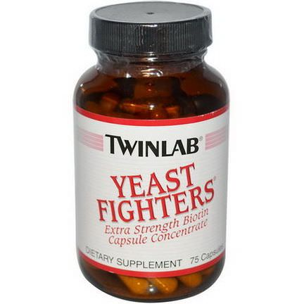 Twinlab, Yeast Fighters, 75 Capsules