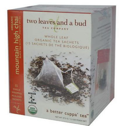 Two Leaves and a Bud, Organic Mountain High Chai, 15 Sachets 37.5g