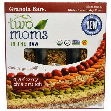 Two Moms in the Raw, Granola Bars, Cranberry Chia Crunch, 6 Bars 28g Each