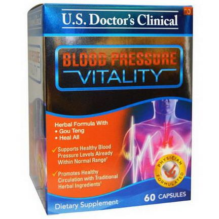 US Doctor's Clinical, Blood Pressure Vitality, 60 Capsules