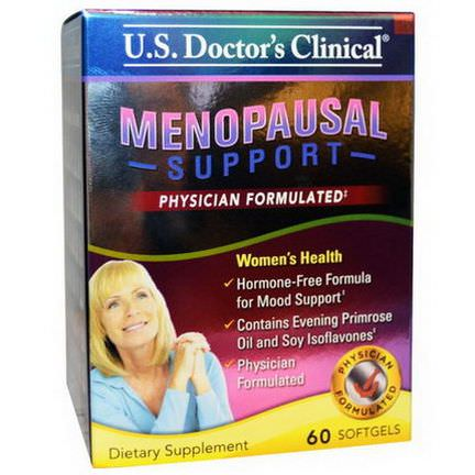 US Doctor's Clinical, Menopausal Support, 60 Softgels