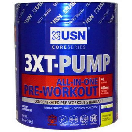 USN, 3XT-Pump, All-In-One-Pre-Workout, Lemon Lime 188g