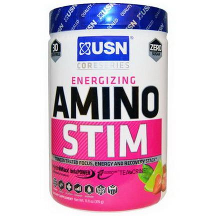 USN, Amino Stim, Focus, Energy and Recovery Stack, Strawberry Limeade Flavor 315g