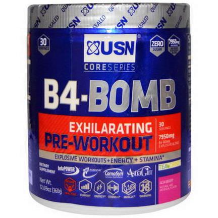 USN, B4-Bomb, Pre-Workout, Acai Berry 360g