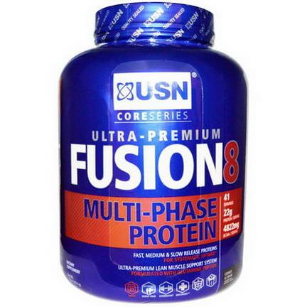 USN, Fusion 8, Multi-Phase Protein, Cookies&Cream 1814g