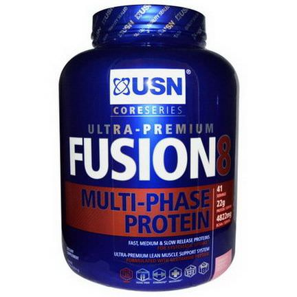 USN, Fusion 8 Multi-Phase Protein, Strawberry Milkshake 1814g