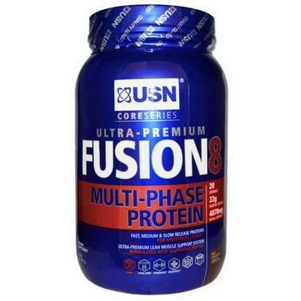 USN, Fusion 8, Ultra-Premium, Multi-Phase Protein, Milk Chocolate 907g