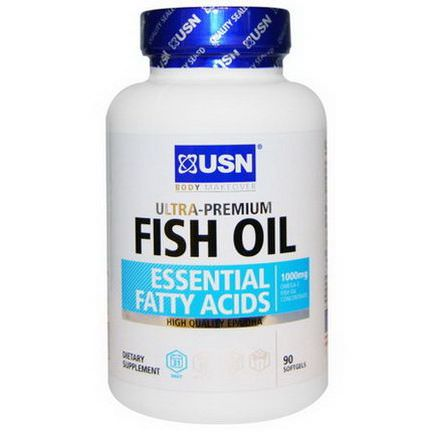 USN, Ultra-Premium Fish Oil, 1000mg, 90 Softgels