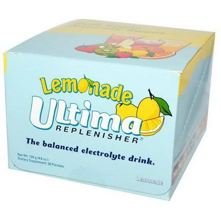 Ultima Health Products, Ultima Replenisher, Lemonade, 30 Packets 129g