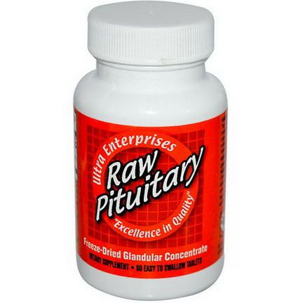 Ultra Glandular Enterprises, Raw Pituitary, 60 Easy-To-Swallow Tablets