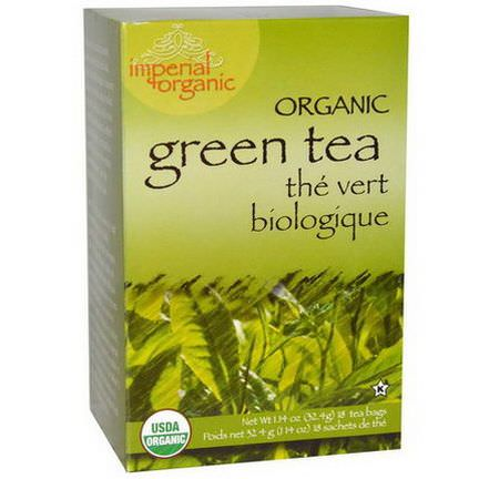 Uncle Lee's Tea, Imperial Organic, Green Tea, 18 Tea Bags 32.4g