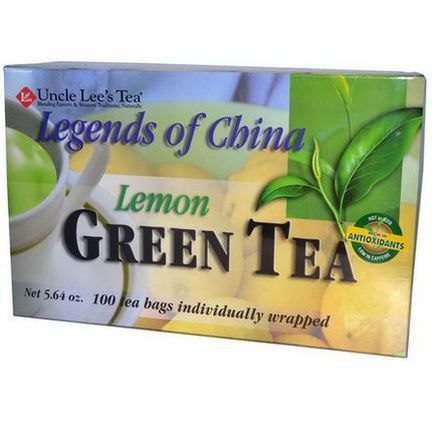 Uncle Lee's Tea, Legends of China, Green Tea, Lemon, 100 Tea Bags, 5.64 oz