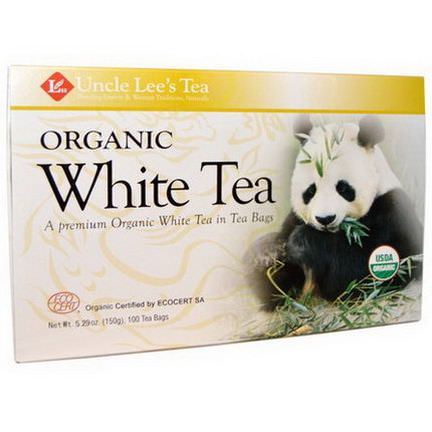 Uncle Lee's Tea, Organic White Tea, 100 Tea Bags 150g