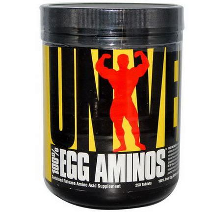 Universal Nutrition, 100% Egg Aminos, 250 Tablets