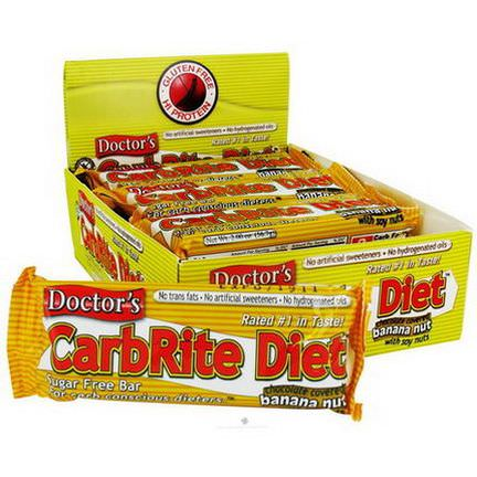 Universal Nutrition, Doctor's CarbRite Diet, Sugar Free, Chocolate Covered Banana Nut, 12 Bars 56.7g Each