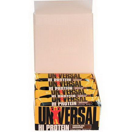 Universal Nutrition, Hi Protein Bar, Chocolate Brownie, 16 Bars 85g Each