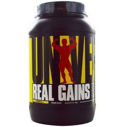 Universal Nutrition, Real Gains, Weight Gainer, Banana Ice Cream 1.73 kg