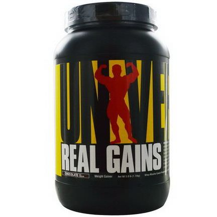 Universal Nutrition, Real Gains, Weight Gainer, Chocolate Ice Cream 1.73 kg