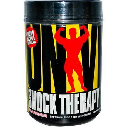 Universal Nutrition, Shock Therapy, Pre-Workout Pump&Energy, Clyde's Hard Lemonade 840g