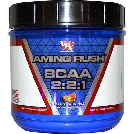 VPX Sports, Amino Rush BCAA 2:2:1, Fruit Punch 227g