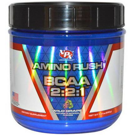 VPX Sports, Amino Rush BCAA 2:2:1, Wild Grape 210g