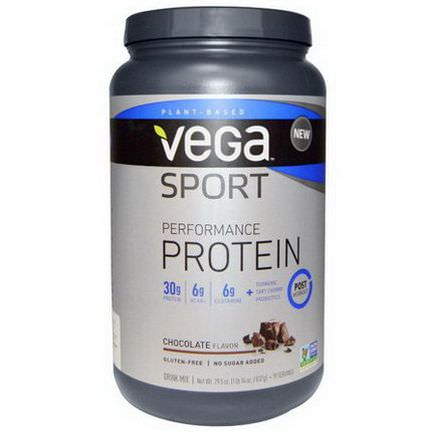 Vega, Sport Performance Protein, Chocolate Flavor 837g