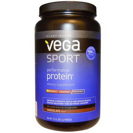 Vega, Sport, Performance Protein, Recover, Powder, Chocolate 822g