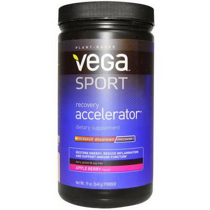 Vega, Sport, Recovery Accelerator, Powder, Apple Berry 540g