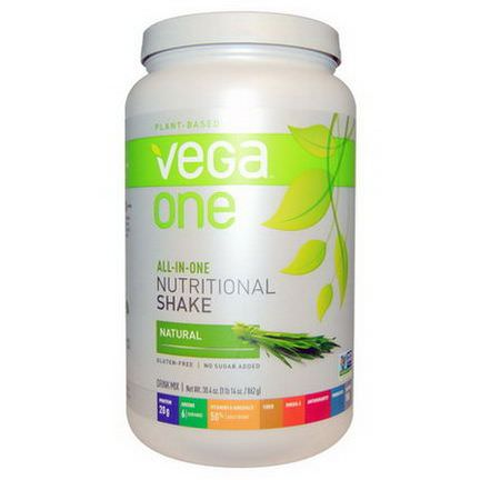 Vega, Vega One, All-In-One Nutritional Shake, Natural 862g