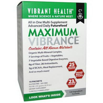 Vibrant Health, Maximum Vibrance, 10 Packets 23.5g Each